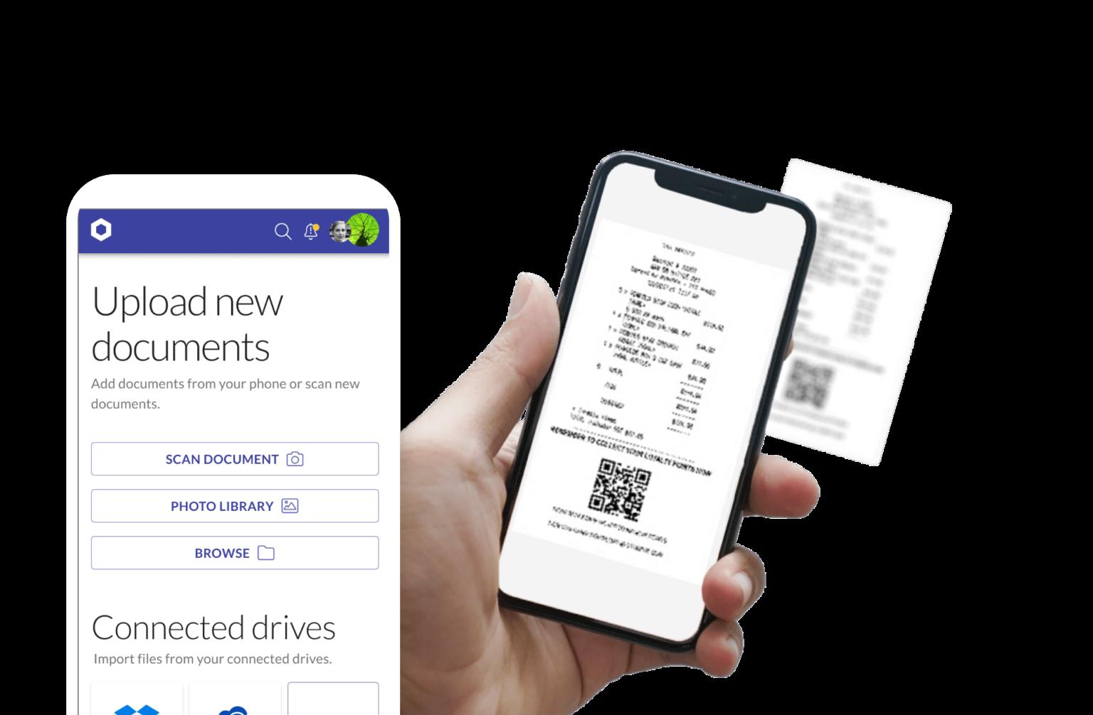 Smart scanner converts tickets to text for documetn storage