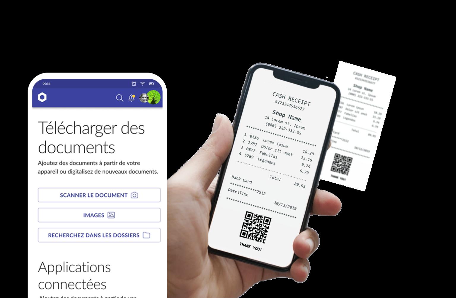Le scanner intelligent convertit les tickets en texte pour le stockage des documents.